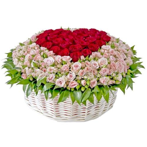 Купить на заказ Заказать Корзина с цветами 9 с доставкой по Павлодару  с доставкой в Павлодаре