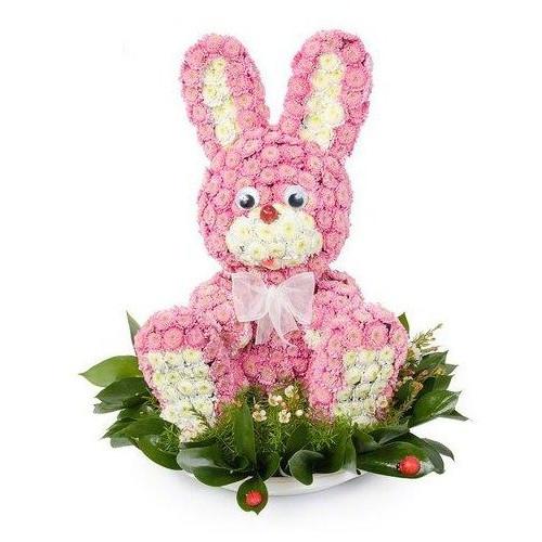 Купить на заказ Заказать Розовый зайчик с доставкой по Павлодару  с доставкой в Павлодаре