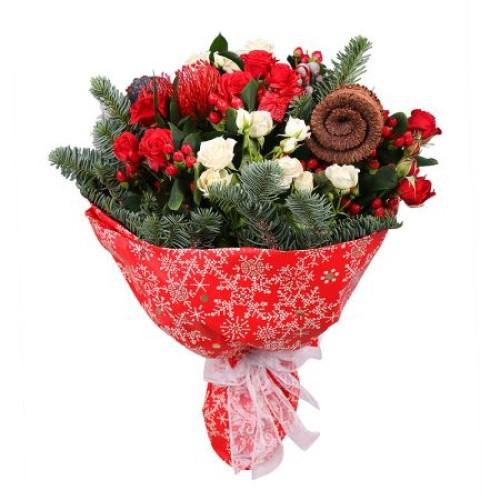 Купить на заказ Заказать Рождественский букет с доставкой по Павлодару  с доставкой в Павлодаре