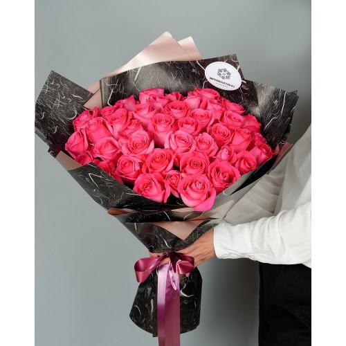Купить на заказ Заказать Букет из 51 розовых роз с доставкой по Павлодару  с доставкой в Павлодаре