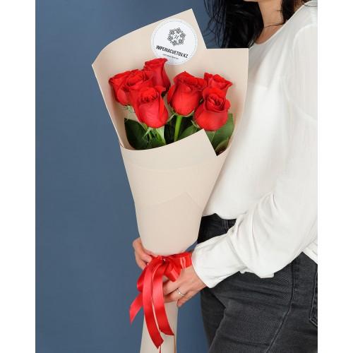 Купить на заказ Заказать Букет из 7 роз с доставкой по Павлодару  с доставкой в Павлодаре