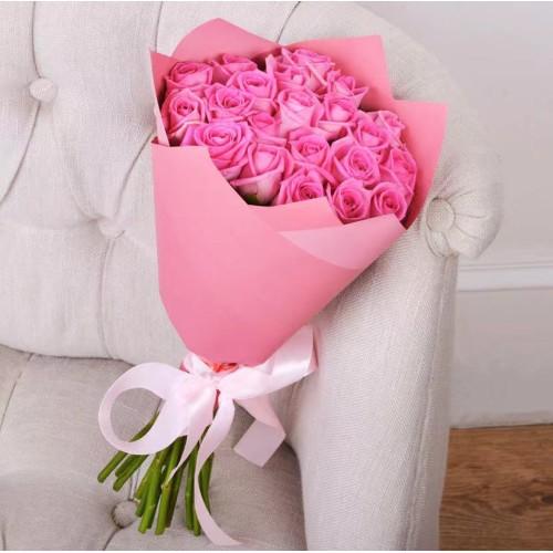Купить на заказ Заказать Букет из 21 розовой розы с доставкой по Павлодару  с доставкой в Павлодаре