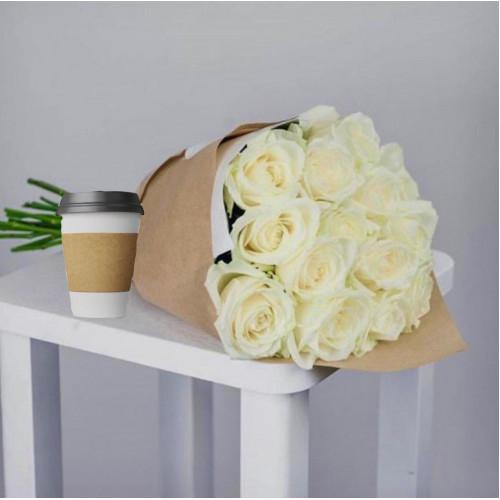 Купить на заказ Кофе с цветами с доставкой в Павлодаре