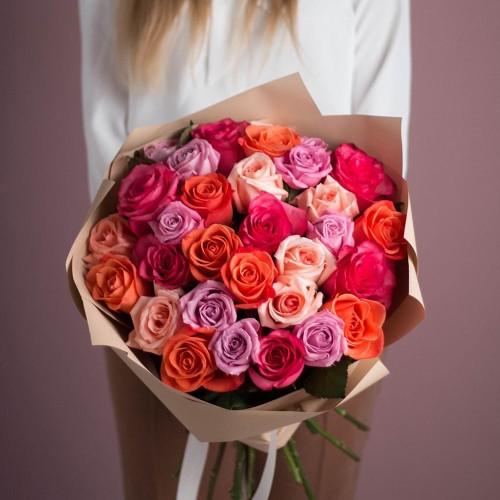 Купить на заказ Заказать Букет из 25 роз (микс) с доставкой по Павлодару  с доставкой в Павлодаре