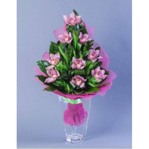 Купить на заказ Заказать Букет из 9 Орхидей с доставкой по Павлодару  с доставкой в Павлодаре