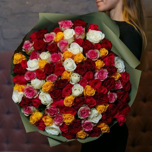 Купить на заказ Заказать Букет из 101 розы (микс) с доставкой по Павлодару  с доставкой в Павлодаре