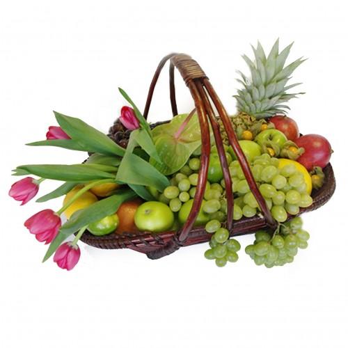 Купить на заказ Заказать Корзина с фруктами 3 с доставкой по Павлодару  с доставкой в Павлодаре